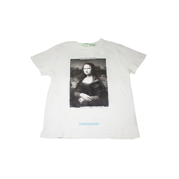 OFF-WHITE MONA LISA TEMPERATURE T-SHIRT WHITE