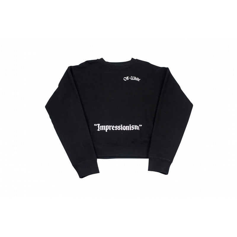 OFF-WHITE COLLEGE SWEATSHIRT BLACK