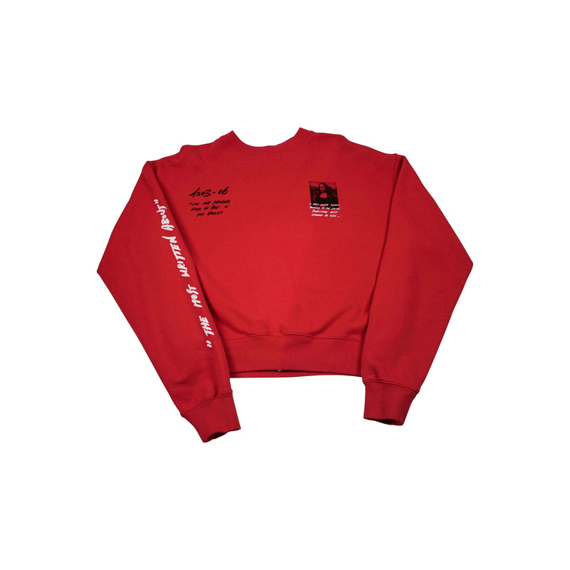 OFF-WHITE MONALISA SLIM SWEATSHIRT RED