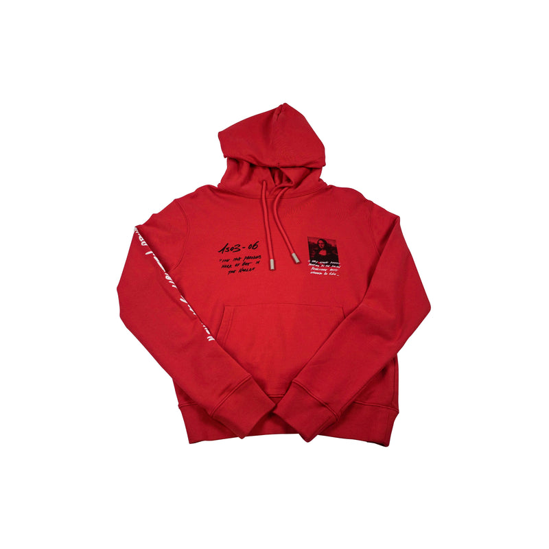 OFF-WHITE MONALISA SLIM HOODIE RED