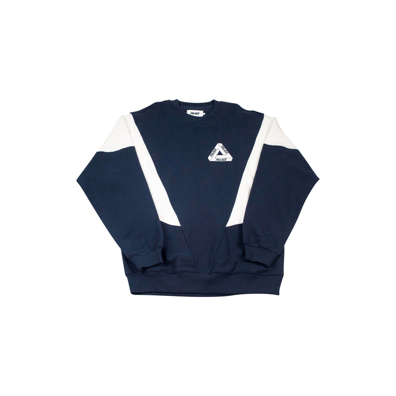 PALACE DROPPETH CREWNECK NAVY/WHITE