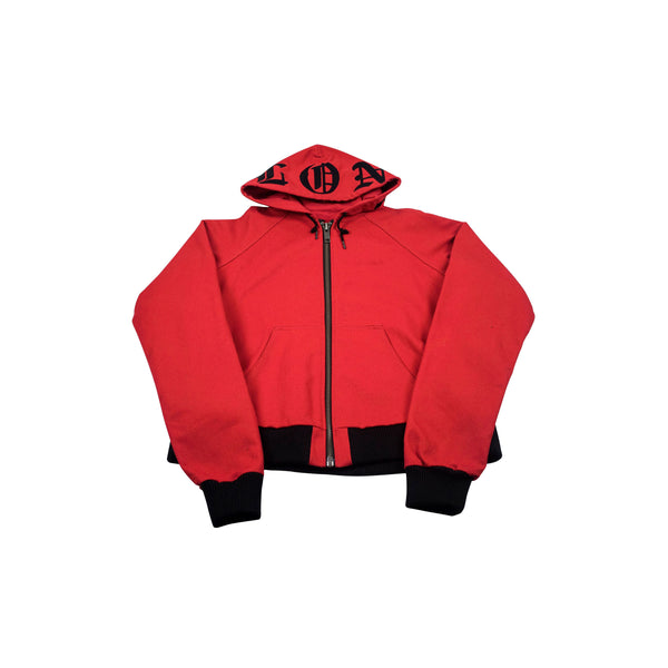 VLONE EMBROIDERED ZIP UP JACKET RED