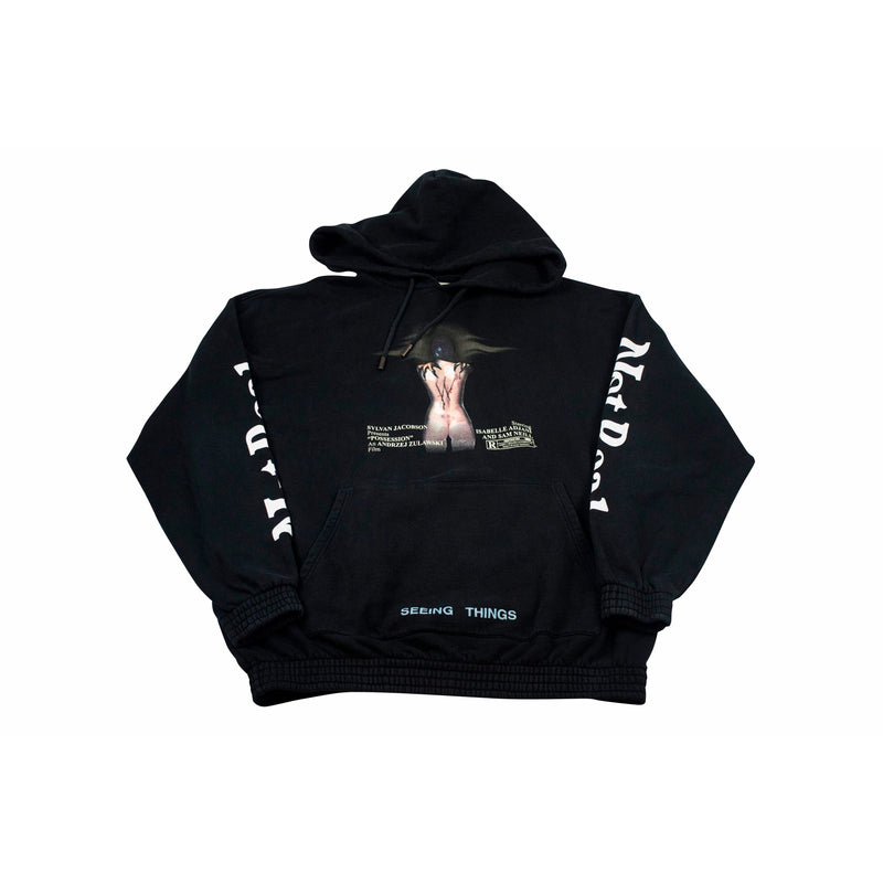 OFF-WHITE WOMAN MOVIE OVER HOODIE BLACK