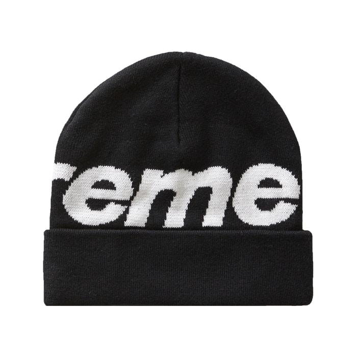 FW19 SUPREME BIG LOGO BEANIE BLACK