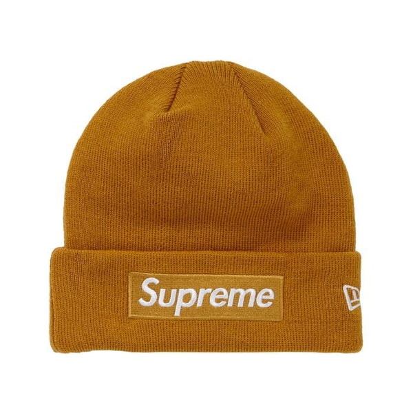 FW18 SUPREME NEW ERA BOX LOGO BEANIE MUSTARD