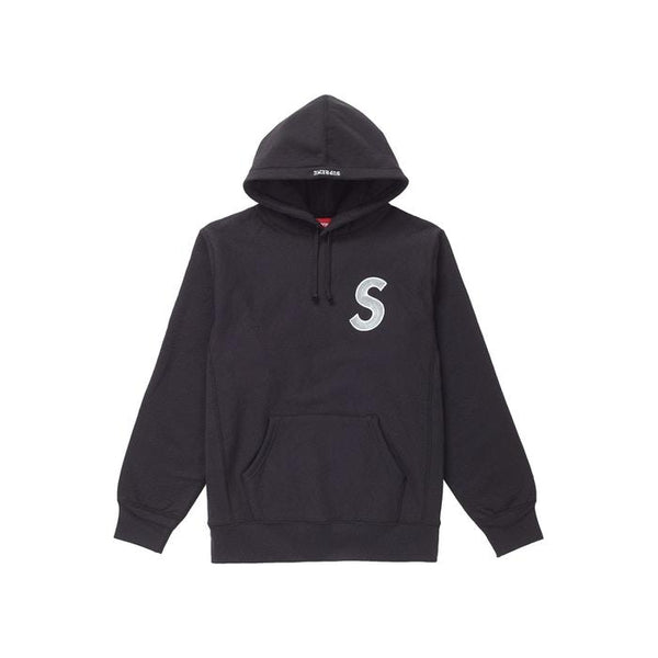 FW18 SUPREME S LOGO HOODED SWEATSHIRT BLACK