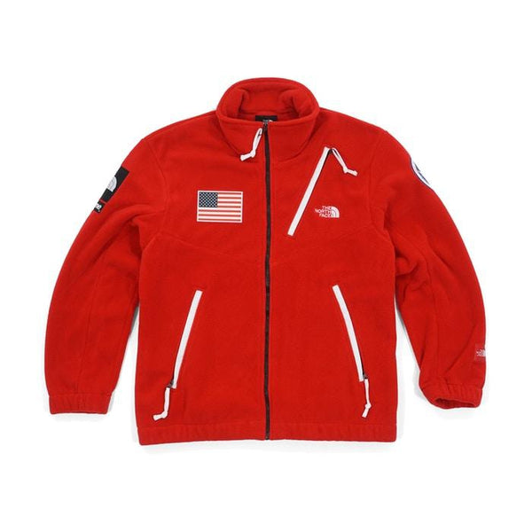 SS17 SUPREME X THE NORTH FACE TRANS ANTARTICA EXPEDITION FLEECE JACKET RED