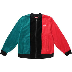 SUPREME VELOUR ZIP UP JACKET BLACK