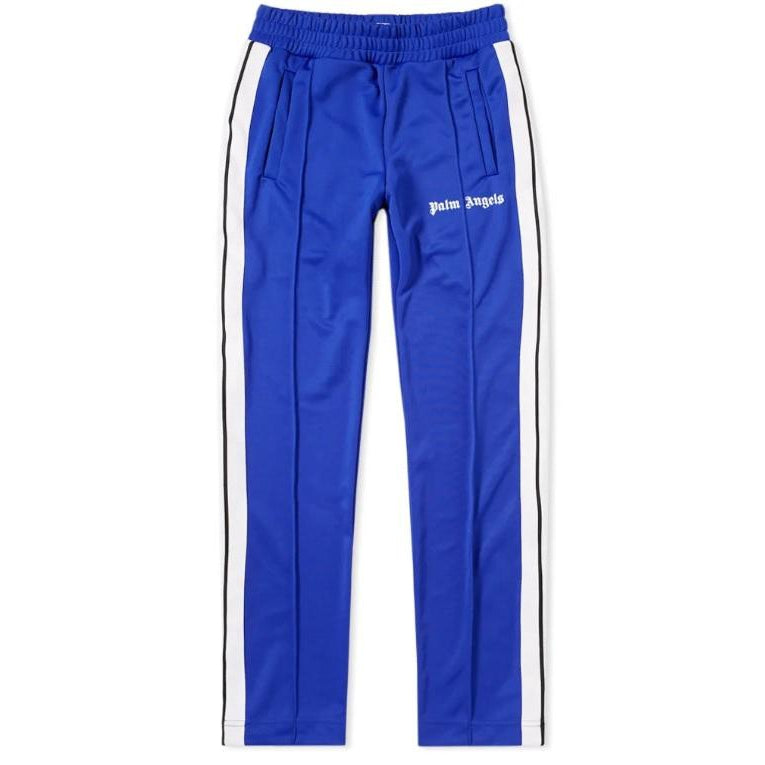 PALM ANGELS TAPED TRACK PANT BLUE WHITE