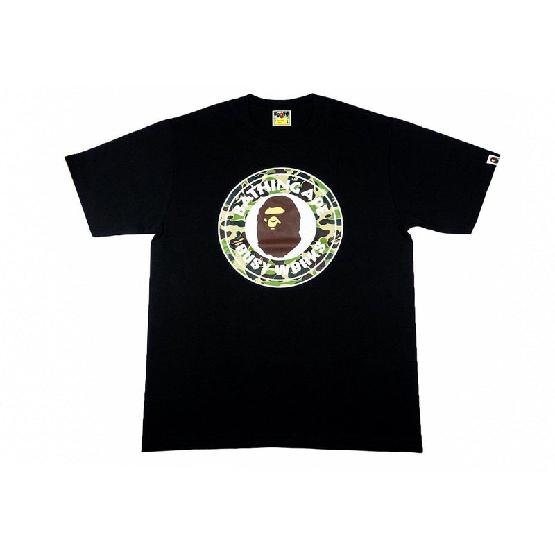 A BATHING APE CAMO BUSY WORKS TEE BLACK/GREEN-T-Shirts-A Bathing Ape-L-HYPESTEIN