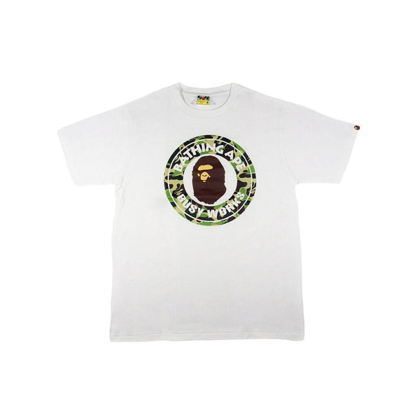 A BATHING APE CAMO BUSY WORKS TEE WHITE/GREEN-T-Shirts-A Bathing Ape-M-HYPESTEIN