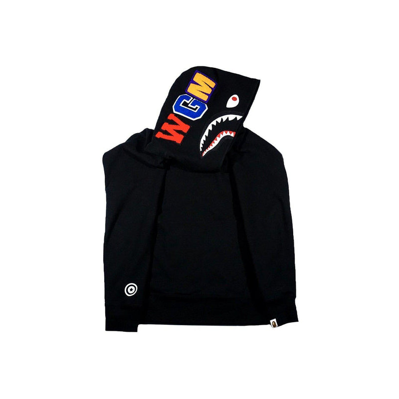 A BATHING APE SHARK ZIP WIDE LONG LENGTH PULLOVER-Hoodies and Sweatshirts-A Bathing Ape-M (PRE-OWNED)-HYPESTEIN