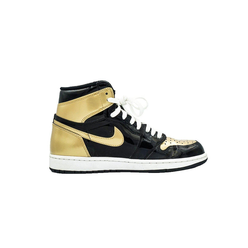 "AIR JORDAN 1 RETRO HIGH NRG PATENT ""GOLD TOE""-Sneakers-Nike-US 8.5 / EU 42-HYPESTEIN"