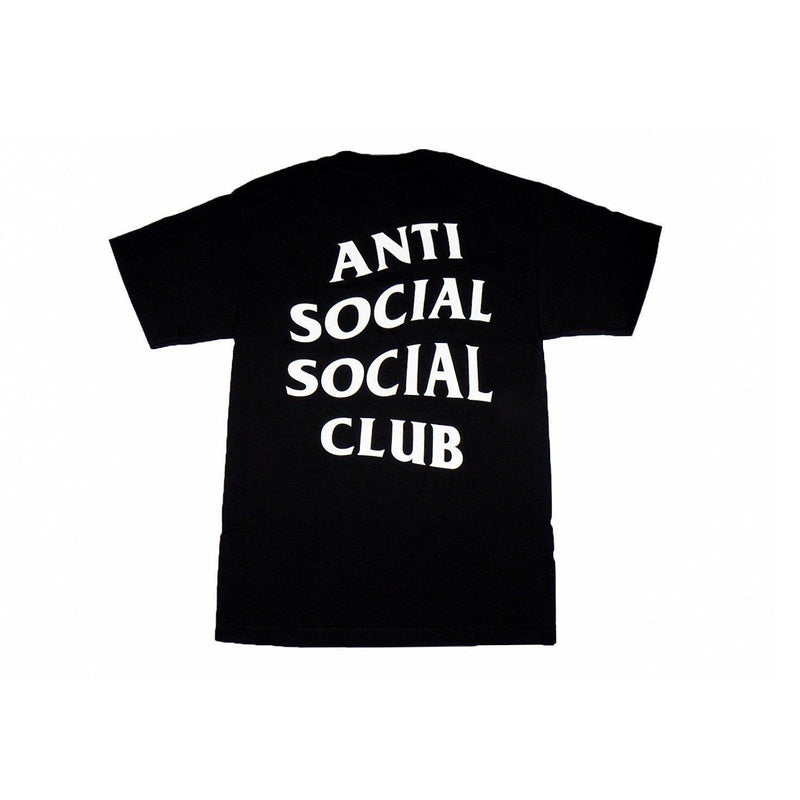 ANTI SOCIAL SOCIAL CLUB LOGO TEE 2 BLACK-T-Shirts-Anti Social Social Club-S-HYPESTEIN