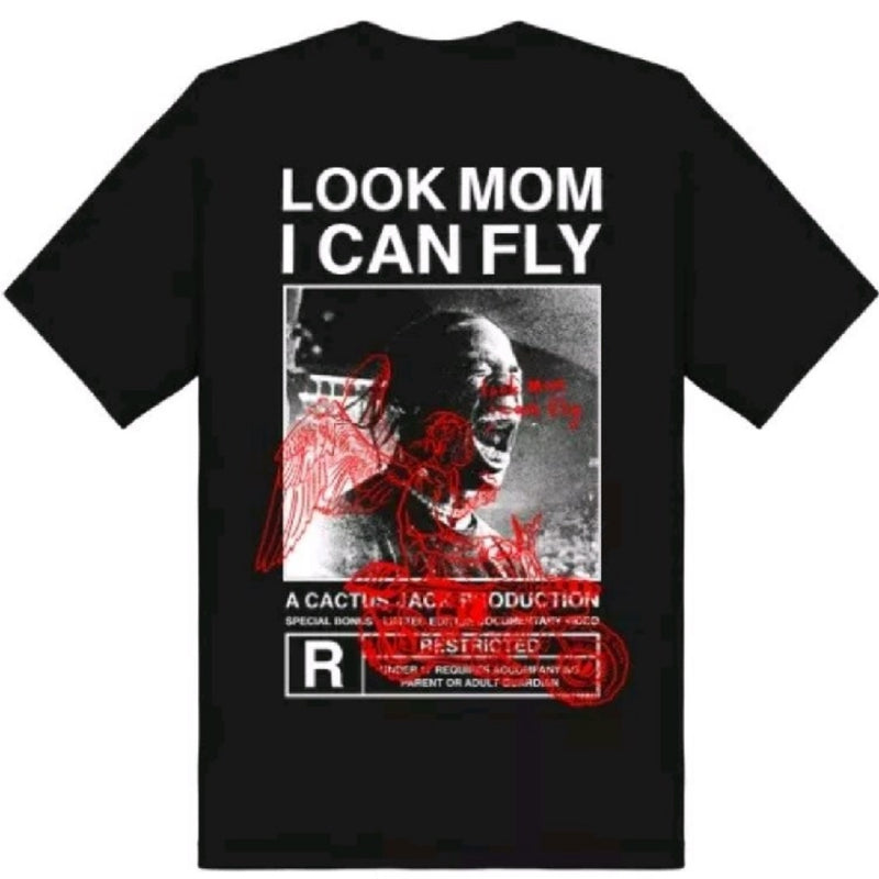 TRAVIS SCOTT LOOK MOM I CAN FLY TEE BLACK