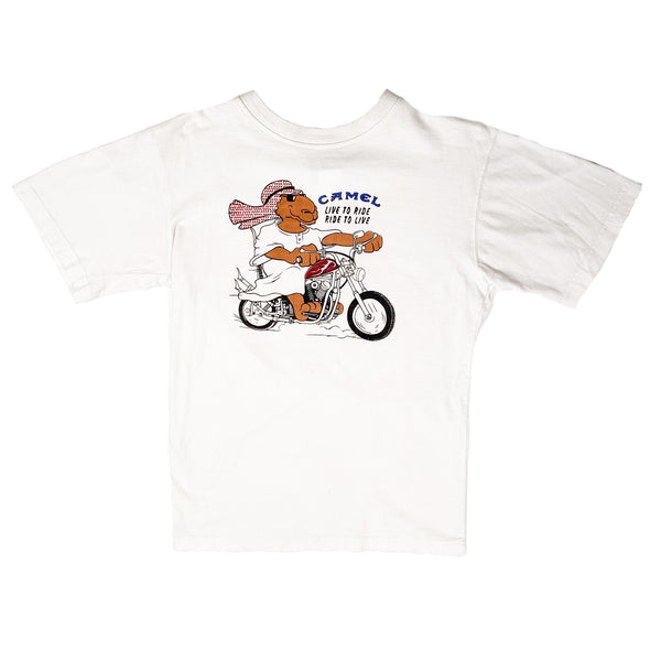 90'S VINTAGE CAMEL LIVE TO RIDE RIDE TO LIVE MOTORCYCLE TEE