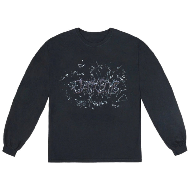 TRAVIS SCOTT JACK BOYS SHATTER L/S T-SHIRT BLACK
