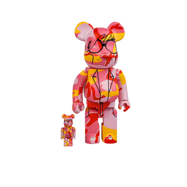 BEARBRICK ANDY WARHOL 100% & 400% SET PINK CAMO