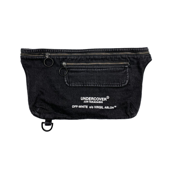 OFF-WHITE X UNDERCOVER DENIM HIP SACK / BAG