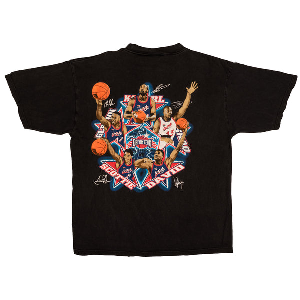 1996 VINTAGE LOGO ATHLETICS USA BASKETBALL DREAM TEAM TEE