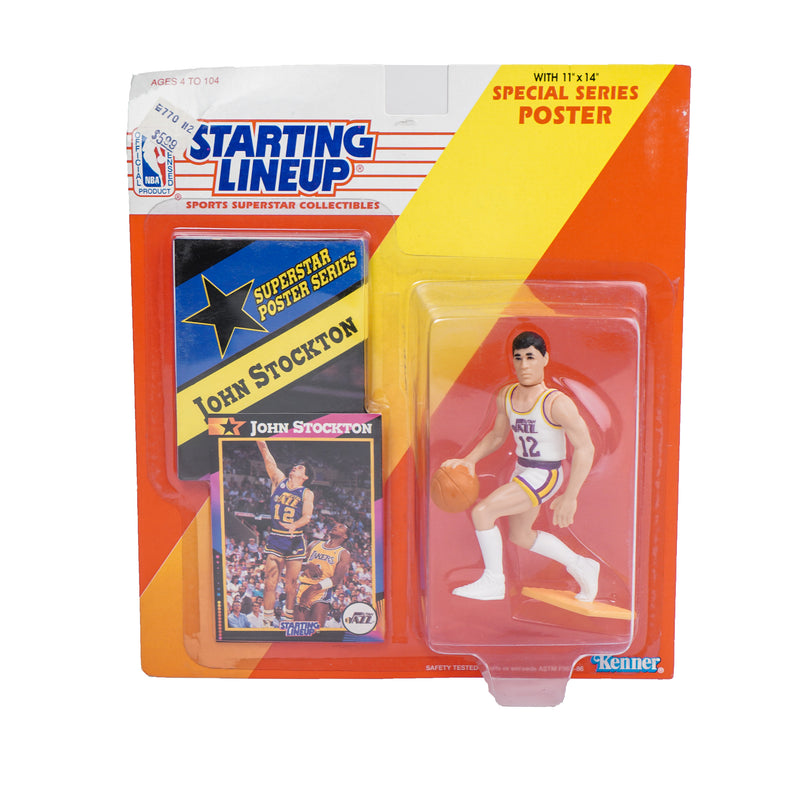 1992 STARTING LINEUP JOHN STOCKTON FIGURINE