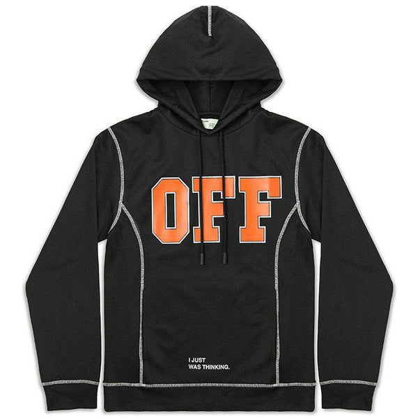 OFF-WHITE POLYESTER HOODIE BLACK