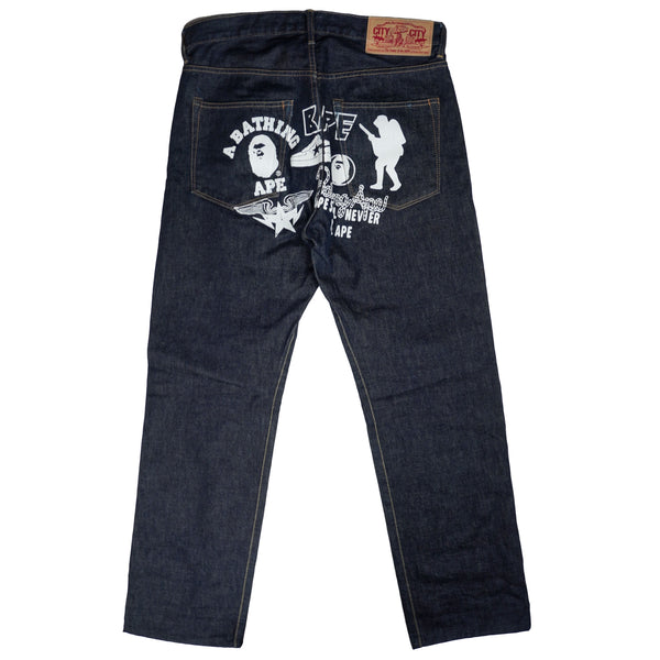 00'S A BATHING APE JEANS
