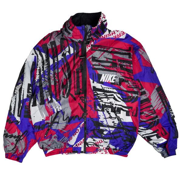 90'S VINTAGE NIKE ALL OVER PRINTED NYLON WINDBREAKER