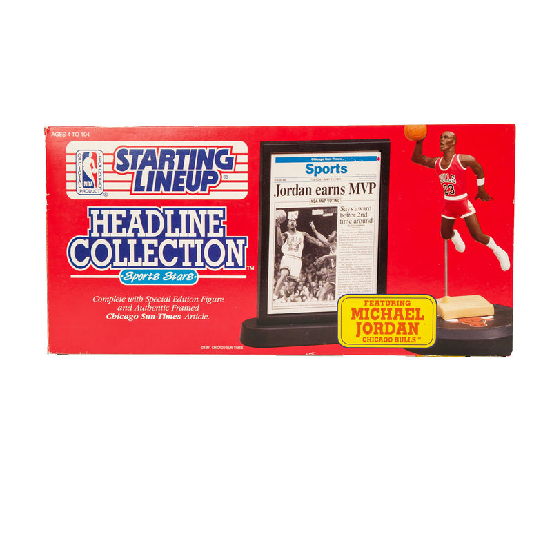 1992 VINTAGE STARTING LINEUP HEADLINE COLLECTION MICHAEL JORDAN FIGURINE