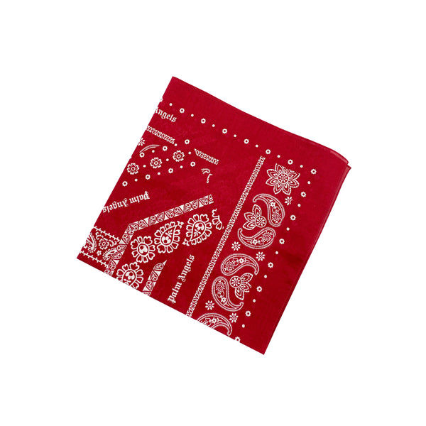 PALM ANGELS COTTON BANDANA RED
