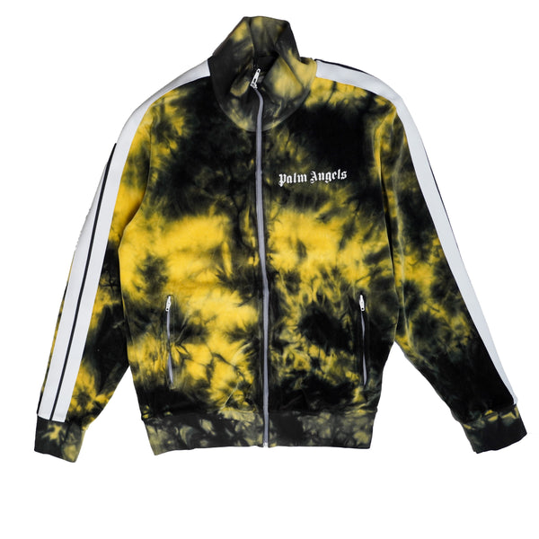 PALM ANGELS YELLOW TIE-DYE TRACK JACKET