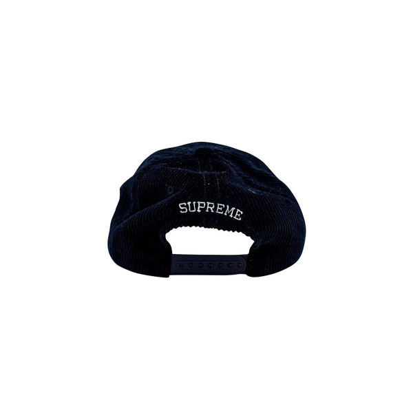 SUPREME GLOBAL CORDUROY 6-PANEL NAVY