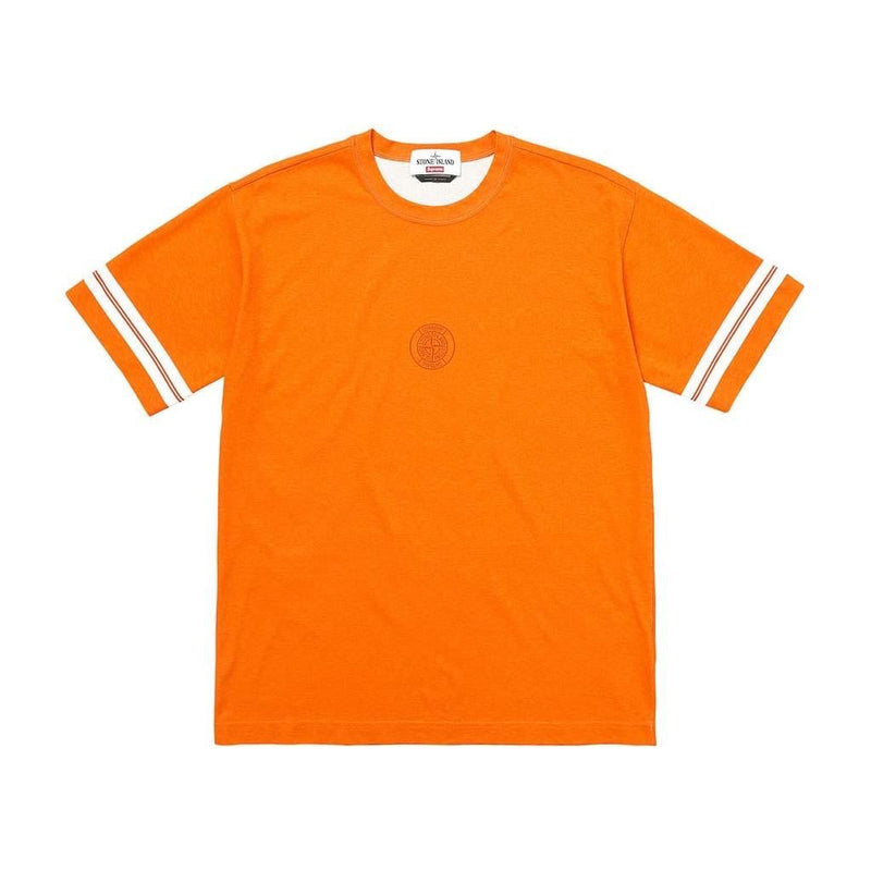 SUPREME X STONE ISLAND S/S TOP ORANGE