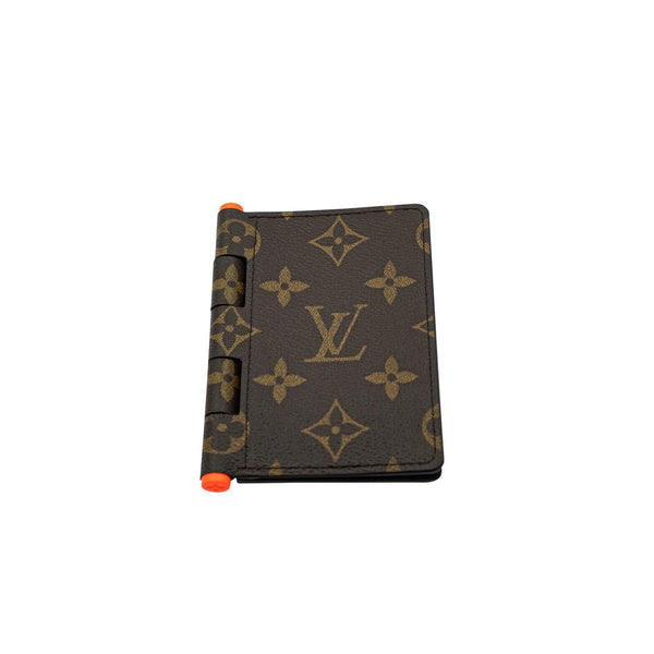 LOUIS VUITTON X VIRGIL ABLOH HINGE POCKET ORGANIZER MONOGRAM BROWN