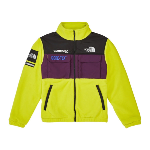 FW18 SUPREME X THE NORTH FACE EXPEDITION FLEECE JACKET SULPHUR