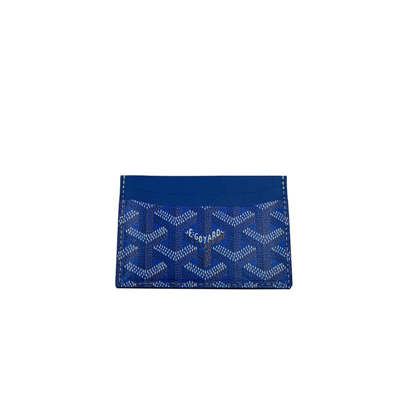 GOYARD SAINT SULPICE CARD HOLDER GOYARDINE ROYAL BLUE