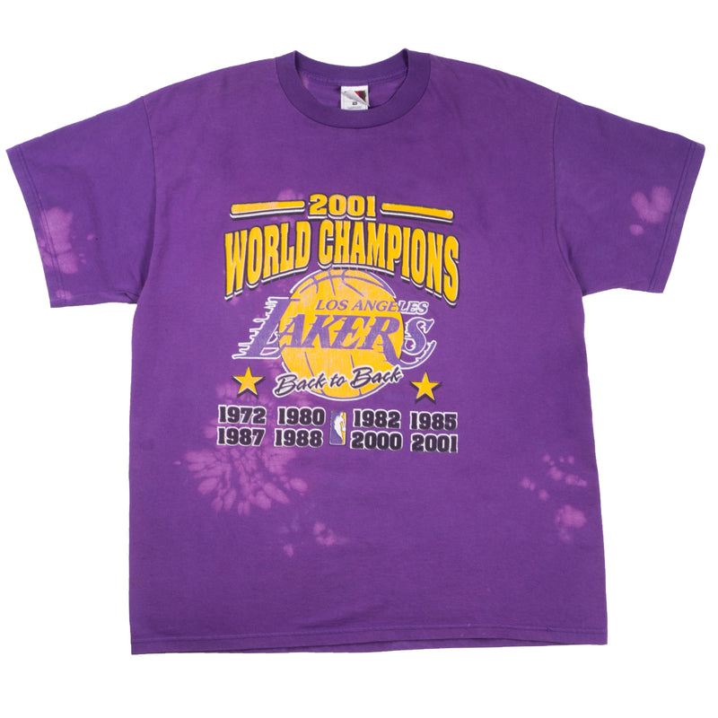 2001 VINTAGE LAKERS BACK TO BACK CHAMPIONSHIP TEE