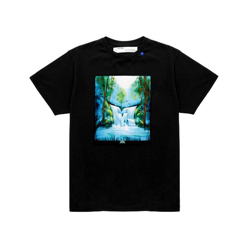OFF-WHITE WATERFALL T-SHIRT BLACK