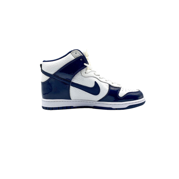 2003 NIKE DUNK HIGH WHITE MIDNIGHT NAVY