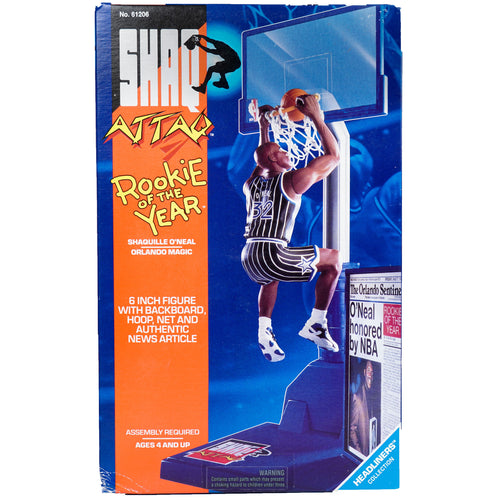 1993 VINTAGE HEADLINERS SHAQ ATTAQ ROOKIE OF THE YEAR 6 INCH FIGURE