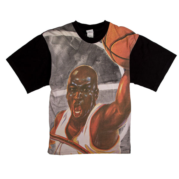 90'S VINTAGE NIKE MICHAEL JORDAN ALL OVER PRINT TEE