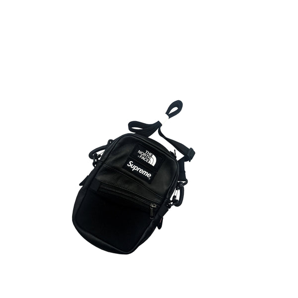 SUPREME THE NORTH FACE LEATHER SHOULDER BAG BLACK