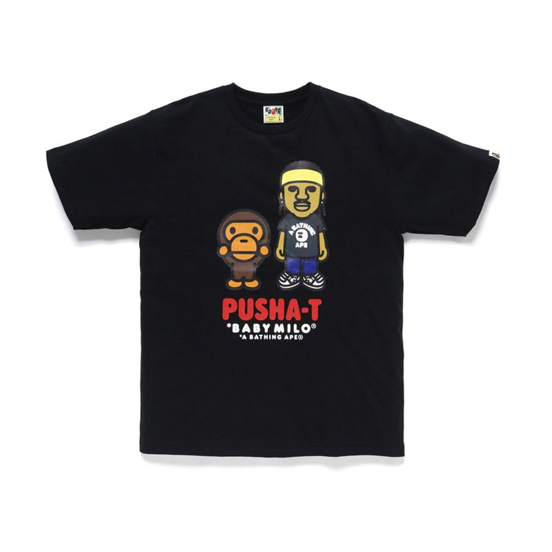 A BATHING APE X PUSHA T BABY MILO TEE BLACK