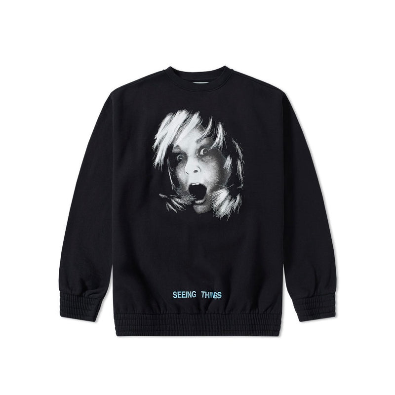 OFF-WHITE SCREAMING GIRL OVERSIZED CREWNECK