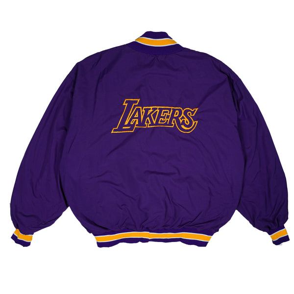 90'S VINTAGE LOS ANGELES LAKERS BOMBER JACKET 3XL