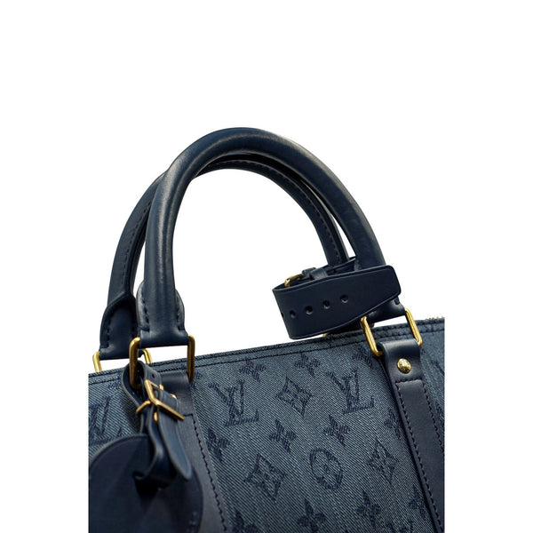 LOUIS VUITTON  KEEPALL BANDOULIERE MONOGRAM DENIM 50 NAVY