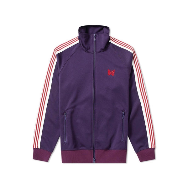 NEEDLES POLY TRACK JACKET EGGPLANT