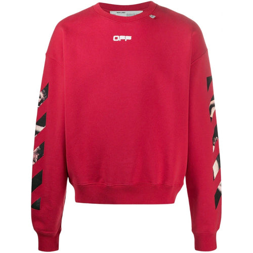 OFF-WHITE OVERSIZED CARAVAGGIO ARROWS SWEATSHIRT RED