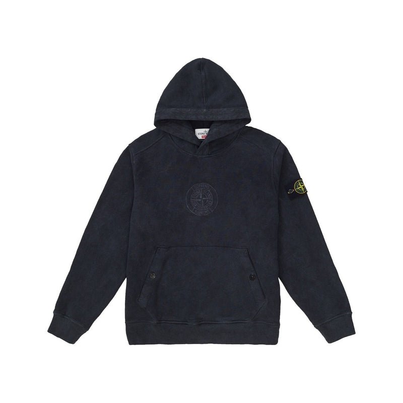 SUPREME X STONE ISLAND HOODED SWEATSHIRT BLACK