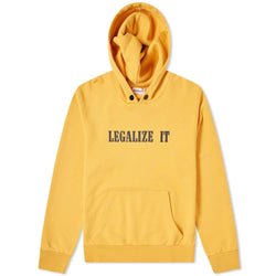 PALM ANGELS LEGALIZE IT HOODIE YELLOW